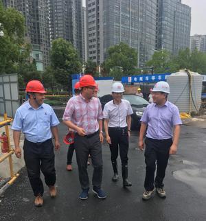 区领导实地检查公司承建的人民广场地下空间开发工程项目