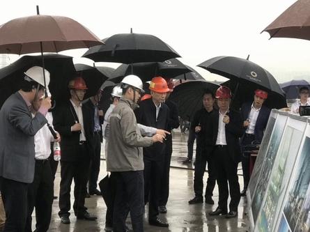 杭州市领导视察公司亚运村2项目